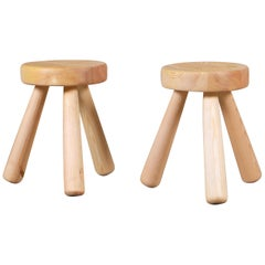 Pair of Ingvar Hildingsson Stools, Sweden, 1970s