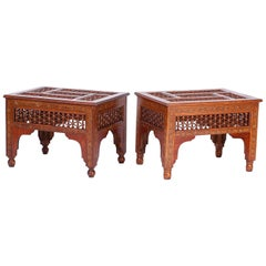 Pair of Inlaid Syrian Stands