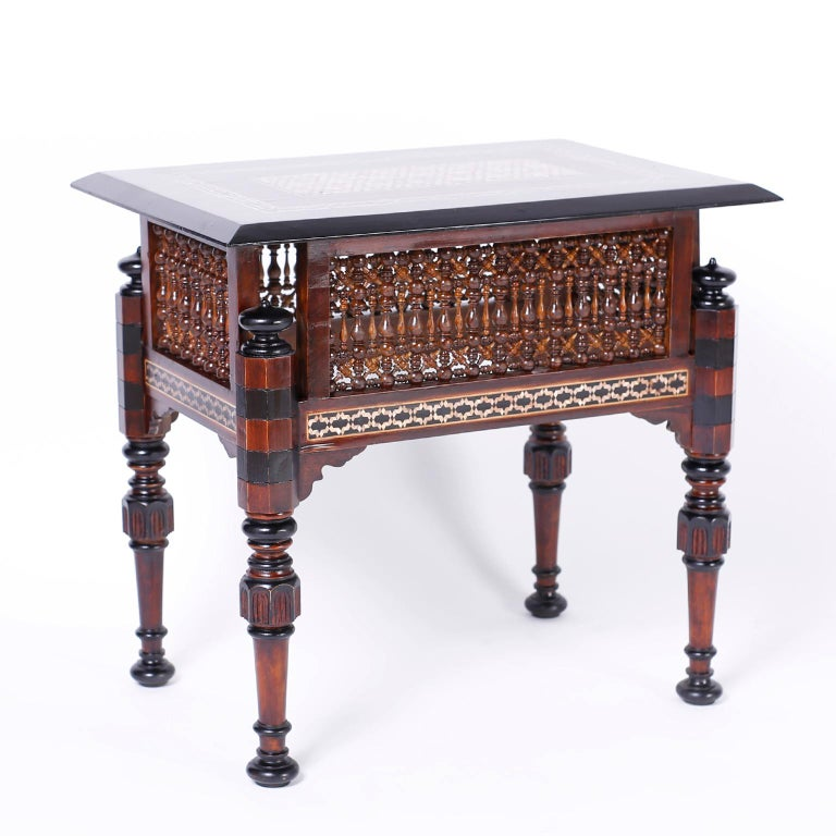 Moorish Pair of Inlaid Syrian Tables For Sale