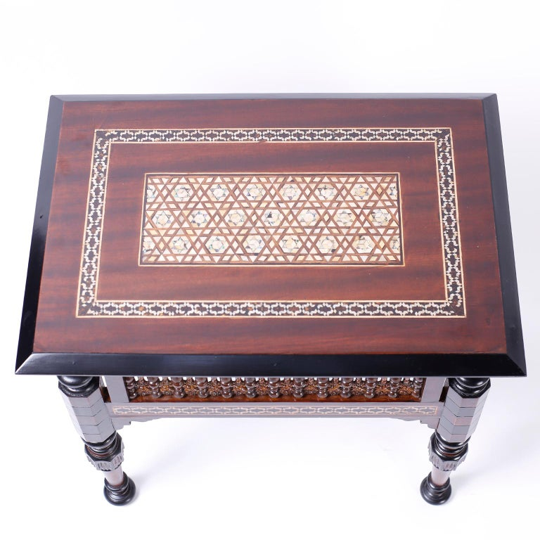 Pair of Inlaid Syrian Tables In Good Condition For Sale In Palm Beach, FL