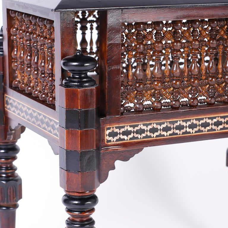 Pair of Inlaid Syrian Tables For Sale 1