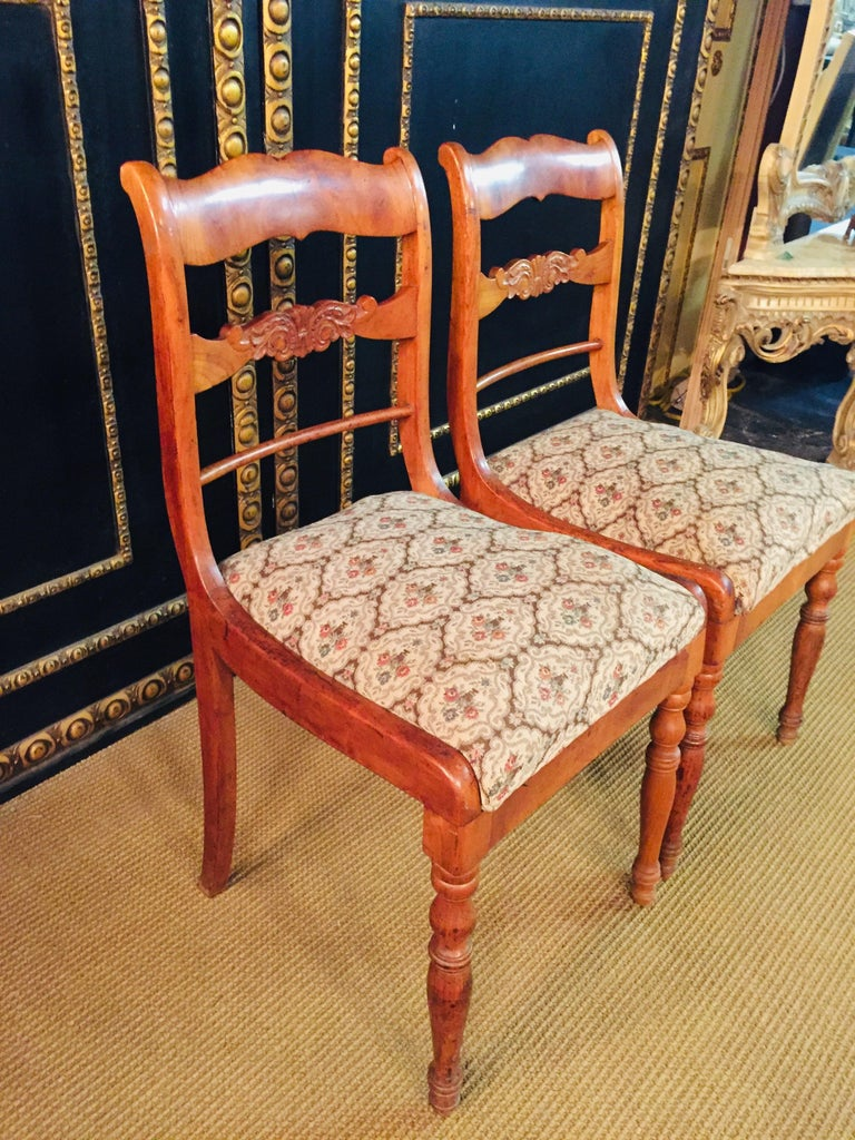 Pair of Interesting Biedermeier Chairs, circa 1840 For Sale 3