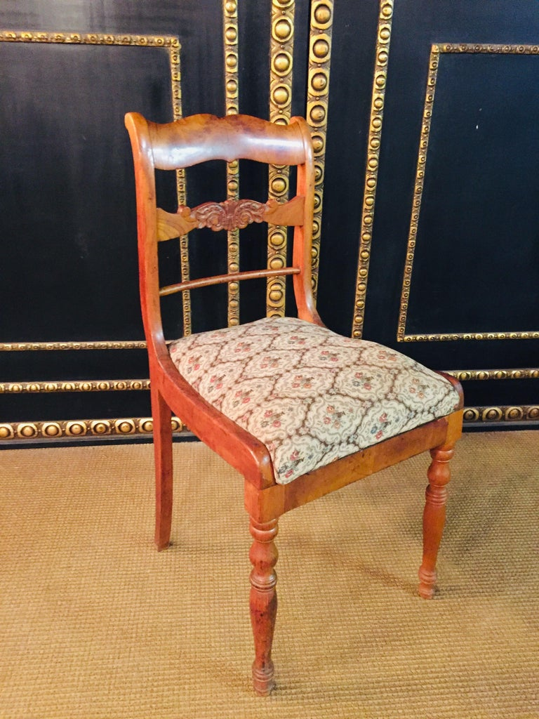 Pair of Interesting Biedermeier Chairs, circa 1840 For Sale 4