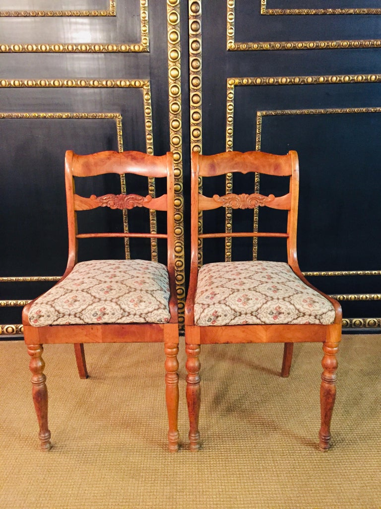 A pair of interesting Biedermeier chairs, circa 1840