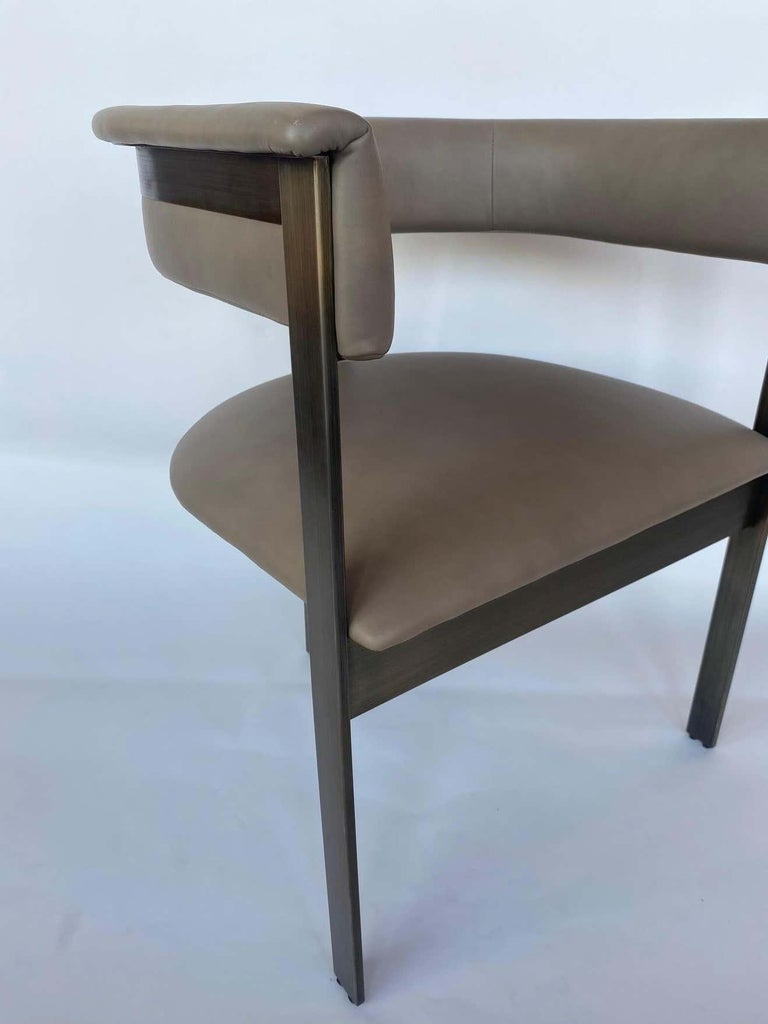American Pair of Interlude Home Darcy Dining Chairs For Sale