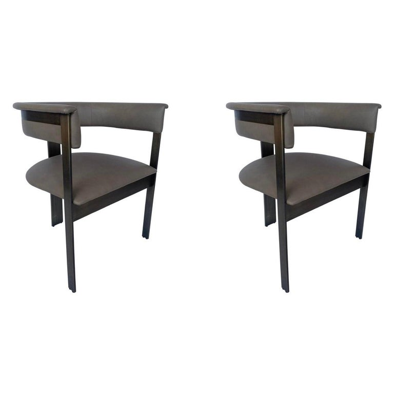 Pair of Interlude Home Darcy Dining Chairs For Sale
