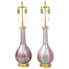 Pair of Iridescent Lamps by Frederick Cooper