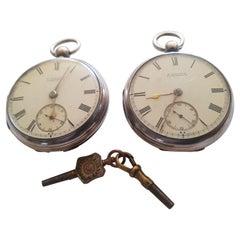 Pair of Irish 19th Century Silver Pocket Watches