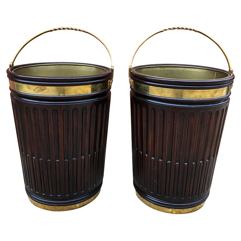 Pair of Irish Georgian Peat Buckets