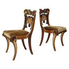 Pair of Irish Regency Chairs