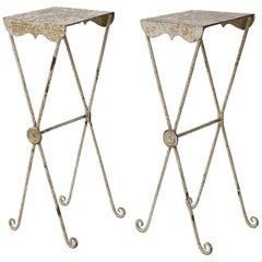Pair of Irish Tole Side Tables