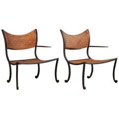 Pair of Iron Armchairs