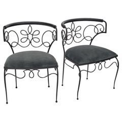 Pair of Iron Chairs by René Drouet