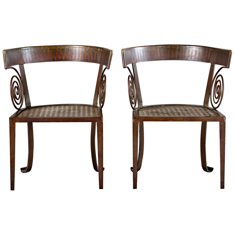 Pair of Iron Chairs