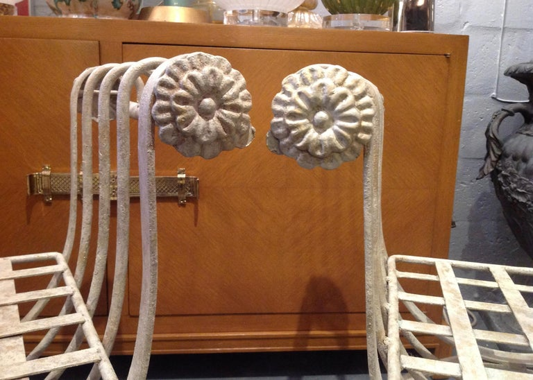 Pair of Iron Curule Benches For Sale 6