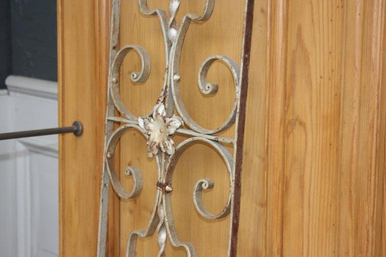 European Pair of Iron Door or Window Grills For Sale