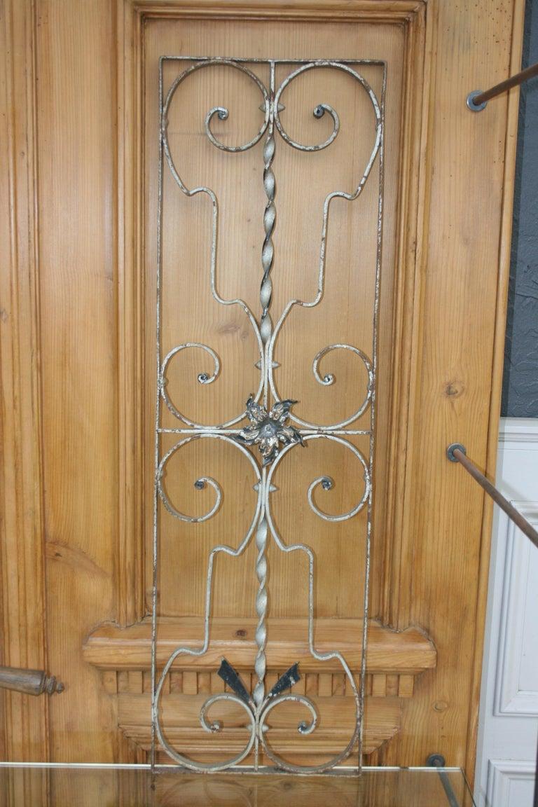 Pair of Iron Door or Window Grills In Fair Condition For Sale In Dusseldorf, DE
