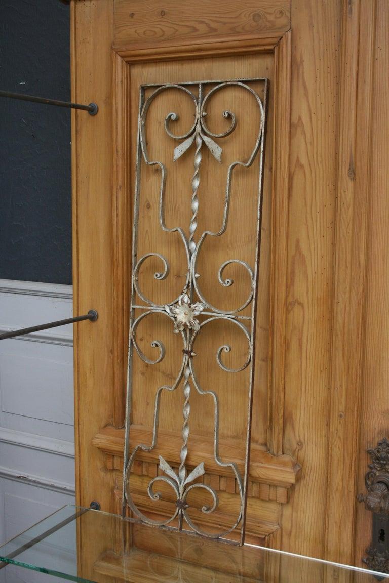 20th Century Pair of Iron Door or Window Grills For Sale