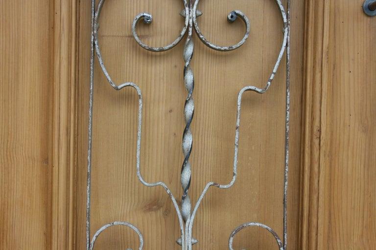 Pair of Iron Door or Window Grills For Sale 3