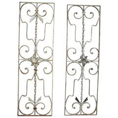 Pair of Iron Door or Window Grills