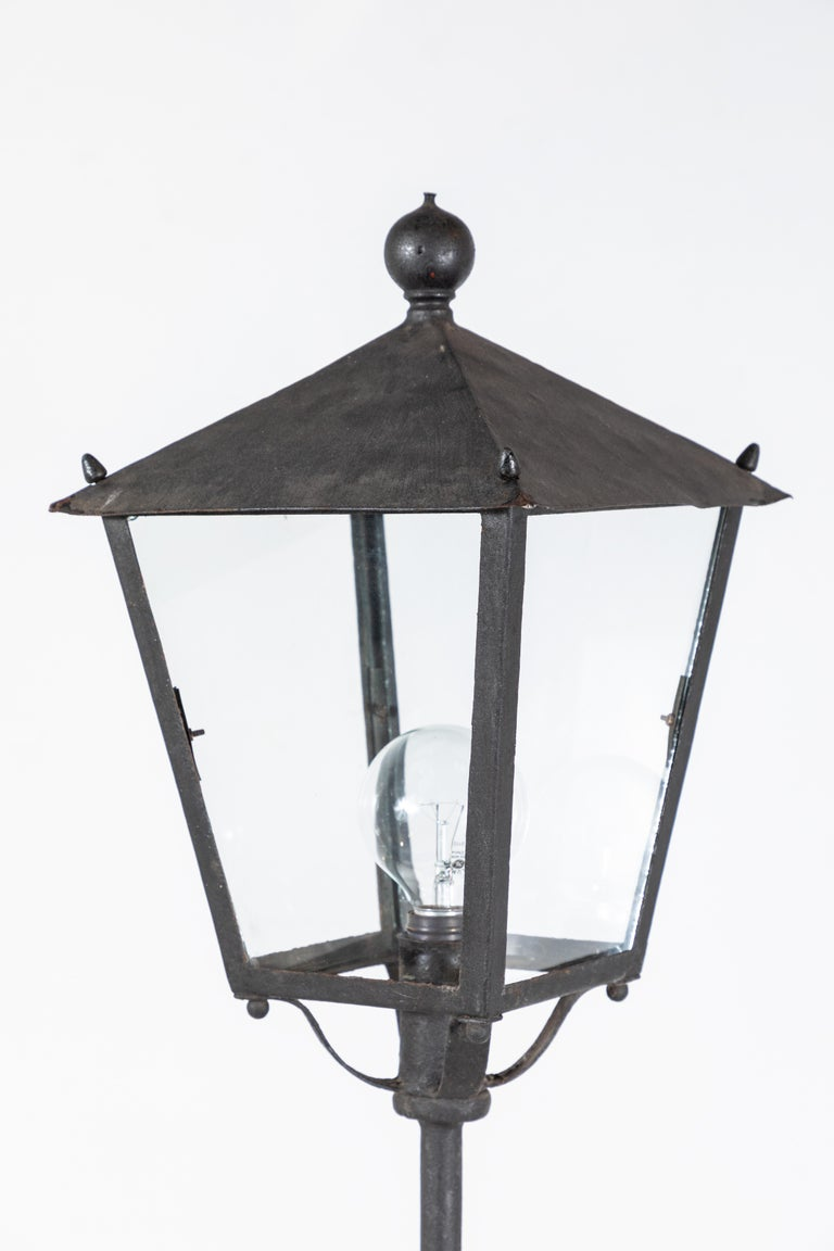 Pair of Iron French Lantern Floor Lamps For Sale 4