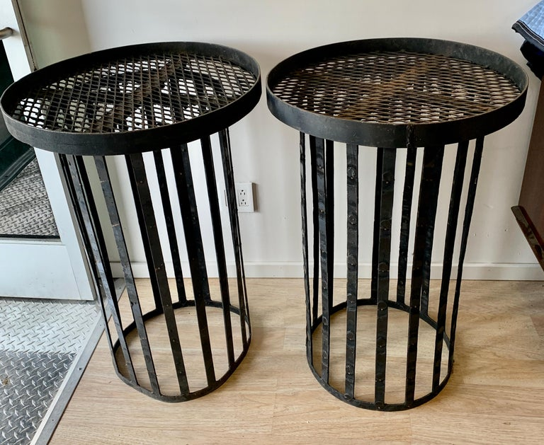 20th Century Pair of Iron Stands For Sale