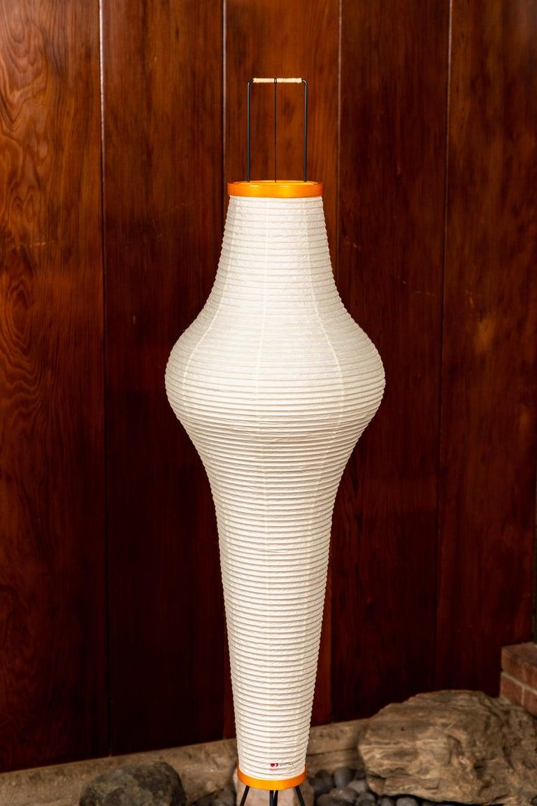 Pair of Isamu Noguchi Akari 14A Floor Lamps For Sale 4