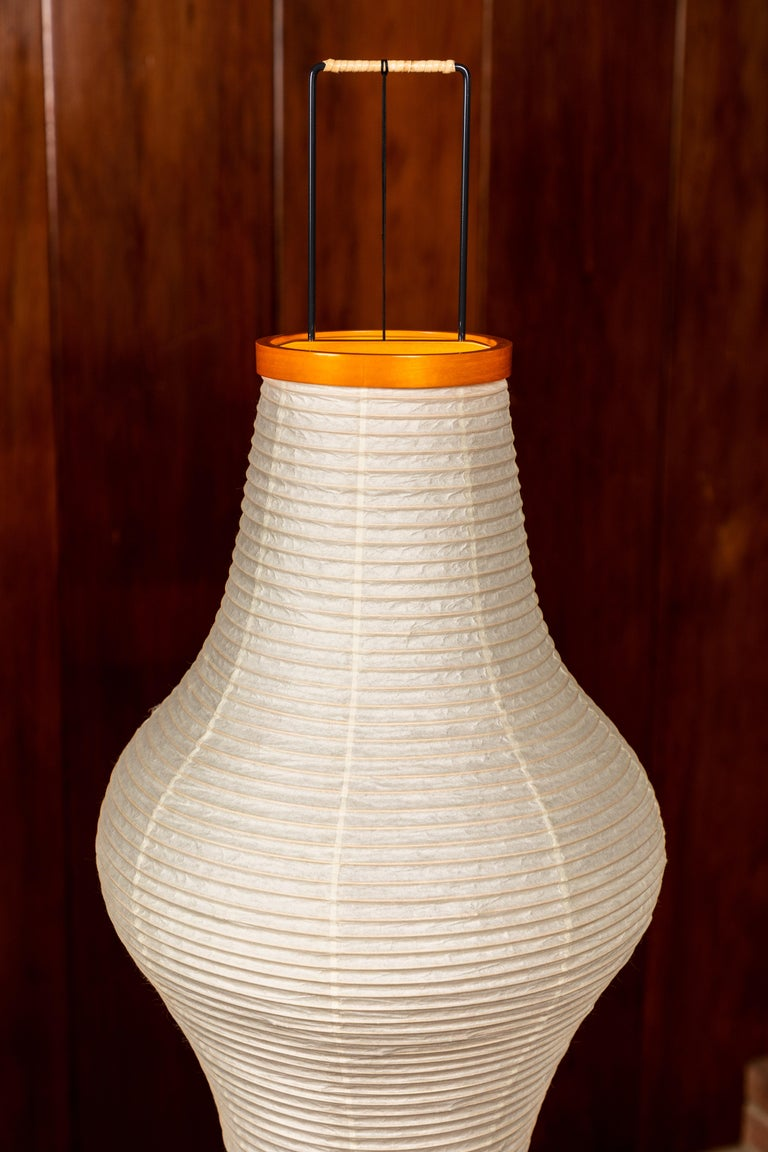 Metal Pair of Isamu Noguchi Akari 14A Floor Lamps For Sale