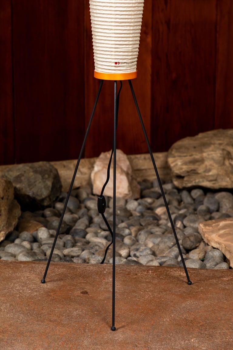 Pair of Isamu Noguchi Akari 14A Floor Lamps For Sale 1