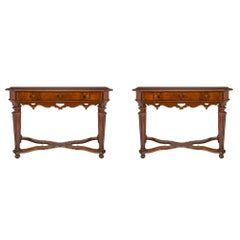 Pair of Italian 17th Century Louis XIV Period Console/Center Tables