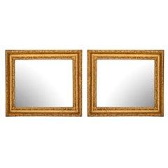 Pair of Italian 17th Century Louis XIV Period Rectangular Mirrors, circa 1680