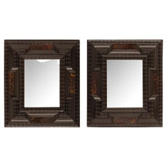 Pair of Italian 17th Century Small Scale Florentine Mirrors/Picture Frames