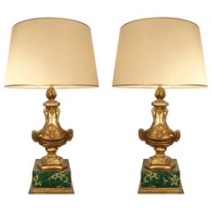 Pair of Italian 18th Century Louis XVI Period Design Elements Made into Lamps