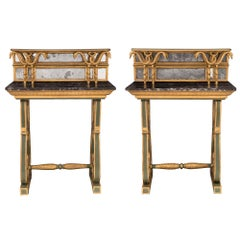 Pair of Italian 18th Century Neoclassical St. Freestanding Consoles