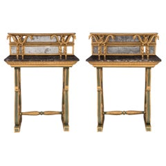 Pair of Italian 18th Century Neoclassical St. Freestanding Consoles