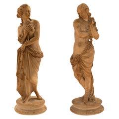 Pair of Italian 18th Century Terracotta Statues