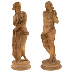 Pair of Italian 18th Century Terra Cotta Statues