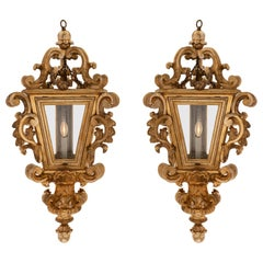 Pair of Italian 18th Century Venetian Mecca Lanterns