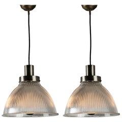 Pair of Italian 1950s Pendant Lamps
