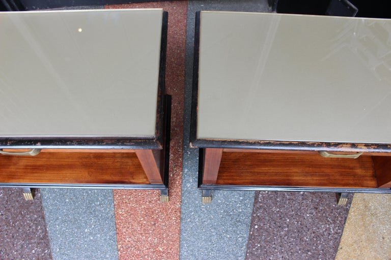 Mid-20th Century Pair of Italian 1950s Side Tables For Sale