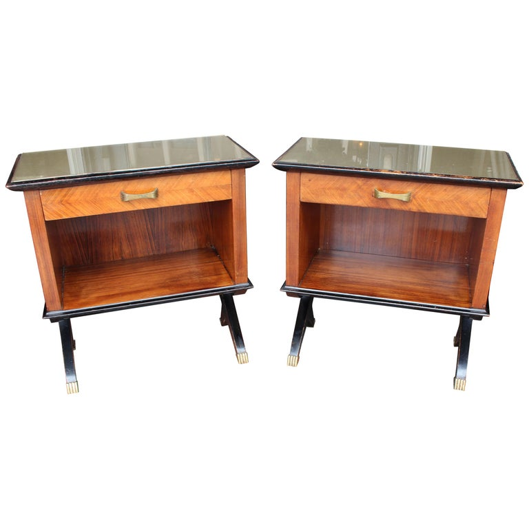 Pair of Italian 1950s Side Tables For Sale