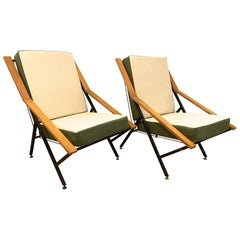 Pair of Italian 1960 Armchairs