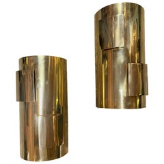 Pair of Italian 1960s Brass Sconces