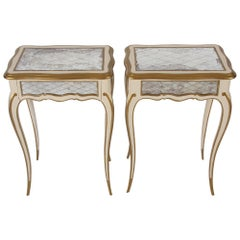 Pair of Italian 1960s Painted and Gilt Side Tables