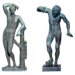 Pair of Italian 19th Century Bronze Statues