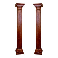 Pair of Italian 19th Century Fluted Columns