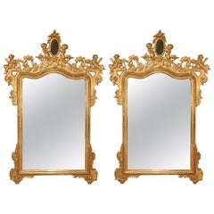 Pair of Italian 19th Century Giltwood Mirrors