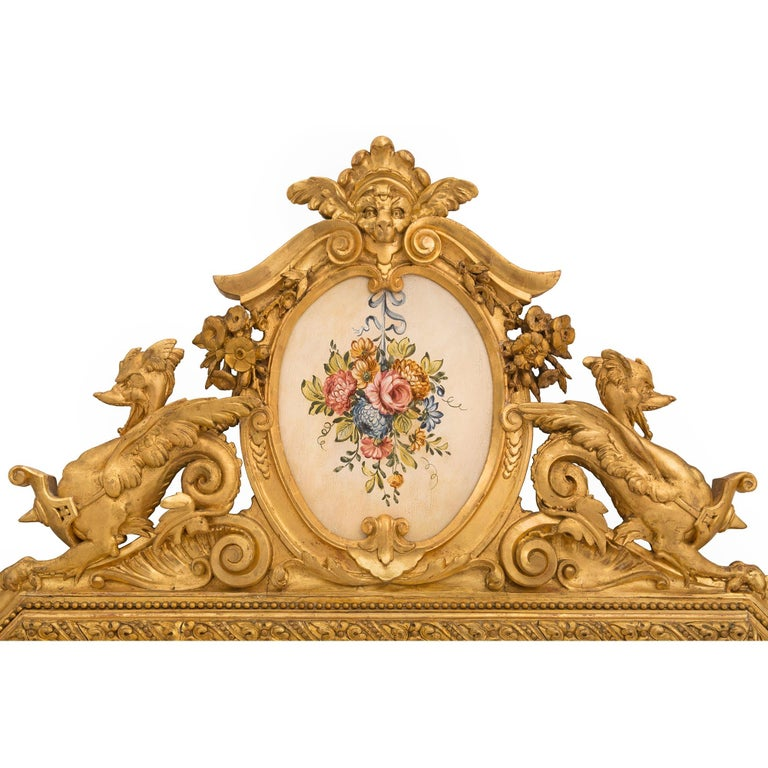 Pair of Italian 19th Century Lombardi Giltwood Mirrors For Sale 2