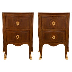 Pair of Italian 19th Century Louis XV Style Genovese Commodes