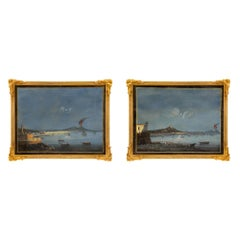 Pair of Italian 19th Century Louis XVI St. Gouaches in Their Original Frames